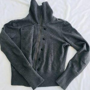 Banana Republic Gray Jacket Wide Collar